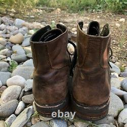 Thursday Boot Co 11.5D Leather Brown Captain DISTRESSED Captoe Dainite-like Sole