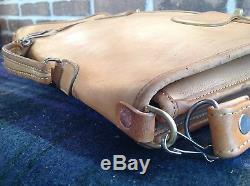 VINTAGE 1970's DISTRESSED BASEBALL GLOVE LEATHER SURFACE PRO BRIEFCASE BAG R$598