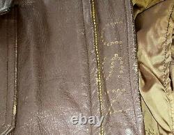 Vietnam War Type G-1 Star Sportswear 7823E USN Flyer's Bomber Leather Jacket, 42