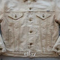 Vintage 1987 Carhartt 100 Years Distressed Canvas Trucker Jacket Made in USA Wip