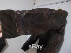 Vintage 40's Usn G1 Distressed Leather Flying Jacket Jacket Size Xs