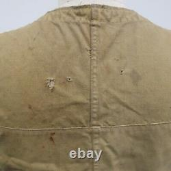 Vintage 50s 60s Filson Tin Cloth Hunting Vest Distressed Early Shooting