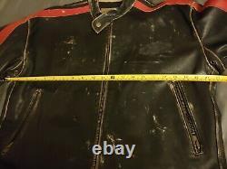 Vintage 90s Von Dutch Leather Motorcycle Jacket men's Small custom distressed