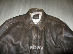 Vintage Avirex LTD Type A-2 Bomber Leather Flight Jacket Coat Brown M Distressed