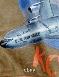Vintage Bomber Jacket USAF Stratotanker KC135 Pilot Air Fueler Sac Time Airforce