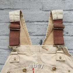 Vintage Carhartt Distressed Work Overalls Pants Jeans Paint Logo Wip Made in USA