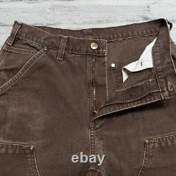 Vintage Carhartt Double Knee Canvas Work Pants Jeans Distressed Front Wip 29
