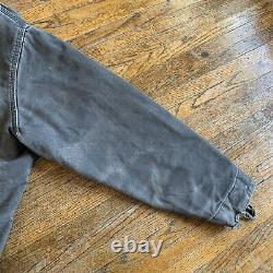 Vintage Carhartt J97 Brown Men XL Distressed Sandstone Detroit Lined Jacket USA
