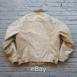 Vintage Carhartt Lined Canvas Trucker Jacket Distressed Made in USA Wip