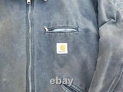 Vintage Carhartt Work Detroit Jacket XL Brown Faded Distressed