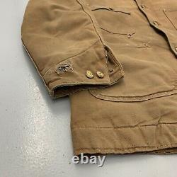Vintage Distressed Carhartt Blanket Lined Chore Work Vtg Coat Jacket Mens Size M