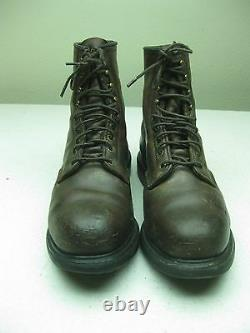 Vintage Distressed Red Wing 4412 Steel Toe Lace Up Work Boots Made In USA 10.5 D