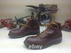 Vintage Distressed Rico USA Brown Leather Lace Up Engineer Boss Boots 10-10.5 D