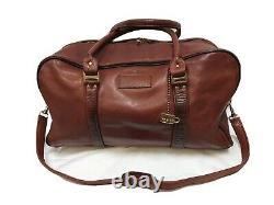 Vintage Frye Overnight Leather Tote Distressed Duffle Travel Bag