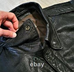 Vintage LL Bean Leather Bomber Jacket A 2 Aviator Flight Coat 80s USA Made 50 L