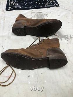 Vintage Mens Red Wing BootsCork soldDistressed 12 D
