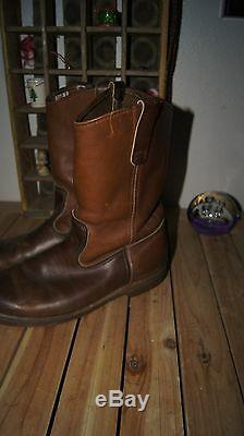 Vintage Red Wing Boots 10 E Engineer Boots 10 E Rare Western Boots 10 Two Tone