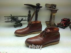 Vintage Red Wing Brown Distressed Leather Engineer Packer Chukka Trail Boots 10a