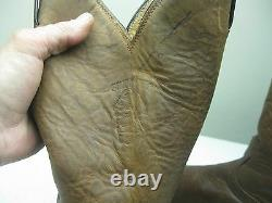 Vintage USA DISTRESSED CHIPPEWA BROWN LEATHER BIKER WESTERN BOOTS SIZE 12 D