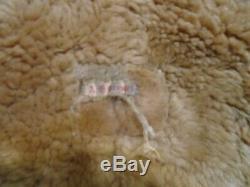 Vintage Ww2 Distressed Irvin Leather Raf Sheepskin Flying Jacket Size S