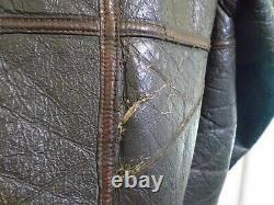 Vintage Ww2 Distressed Usaaf D1 Leather Sheepskin Flying Jacket Size 40 Conmar