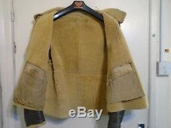 Vintage Ww2 Distressed Usaaf D1 Leather Sheepskin Flying Jacket Size 40 Conmar