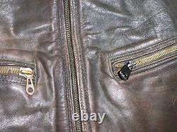 Vintage Ww2 German Haelson Luftwaffe Distressed Leather Jacket Size Eu48 / S