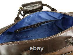 Visconti Toscana Range Luxury Distressed Leather Holdall Weekend Gym Bag TC152