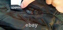 Vtg Distressed Eddie Bauer Outfitter Black Brown Leather Jacket Sz 3XL Tall