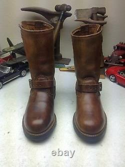 Walker Steel Toe Brown Distressed Leather Engineer Motorcycle Boss Boots 6ee