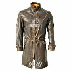 Watch Dogs Aiden Pearce Trench Coat Watch Dogs Men Brown Distressed Trench Coat