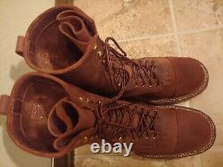 White's Smokejumper, Distressed smooth over roughout, size 11D