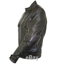 Xelement Distress Retro Brown Bandit Buffalo Leather Biker Jacket with Armor S, 4XL