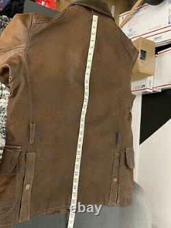 $1800 Polo Ralph Lauren Medium Distressed Brown Leather Jacket Hunting Wax Rrl