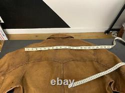 2400 $ Rrl Ralph Lauren Medium Griggs Veste En Cuir Polo Western 4kis