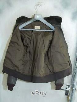 60 Vintage Usn G1 Star Vêtements De Sport Distressed Veste En Cuir De Chèvre Volant En Cuir 44