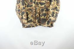 80 Vtg Columbia Goretex Mens Petit Distressed Capuche Camouflage De Chasse Veste