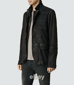 Allsaints Sanuki Cuir Vieilli Blazer Xs Extra Small £ 358