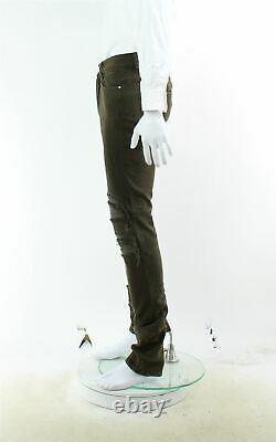 Amiri Brown Distressed Skinny Jeans, Royaume-uni 30 Us 30 Eu Xxs