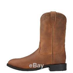Ariat Bottes Roper Heritage Hommes Distressed Brown 10002284