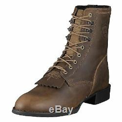 Ariat Heritage Mens Lace Up Roper Santiags Lacer Distressed 10001988 32525