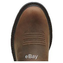 Ariat Men Groundbreaker Pull-on Distressed Brown Bottes De Travail 10014238