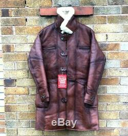 Bane Manteau En Peau De Mouton Brown D'hiver Veste En Cuir Véritable Fourrure En Peau De Mouton Xs-5xl Sur Mesure