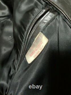 Belle Veste En Cuir Brun Décontraction Vintage De La Police/chp Made En USA