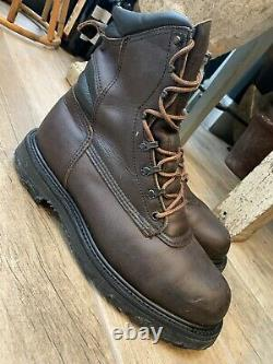 Bottes Redwing Rares Vintage/unorn Distressed Wax Coated Brown Leather Red Wing 9