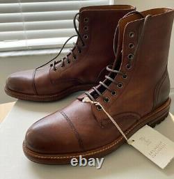 Brunello Cucinelli Casquette En Cuir Toe Boot 41 7 Royaume-uni 8 États-unis Distrait Brown Italie 995 $