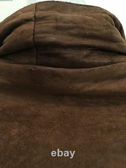 Christian Dior Distressed Vtg Brown Bomber En Cuir Manteau De Veste De So Soft Taille 40