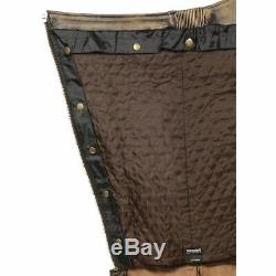 Distressed Brown Hommes Cuir 4 Poches Doublées Thermique Moto Chaps Mlm5500