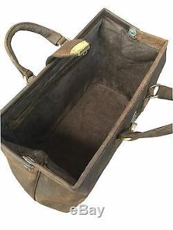 Distressed En Cuir Brun Gladstone Sac Docteur Carry Case Duffle Transporteur