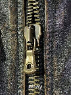 Dolce Gabbana Kangaroo En Cuir Veste Taille En Détresse 50